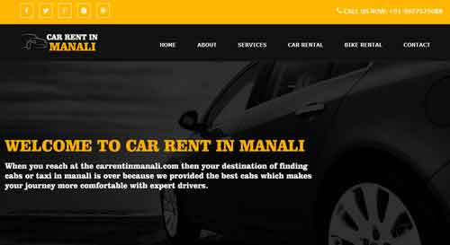 car rent in manali